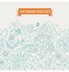floral background Vintage retro background with vector image