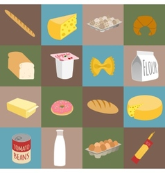 Food flat icons vector
