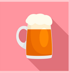 fresh german beer mug icon flat style vector image