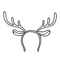 Funny mask with Christmas reindeer horns vector image