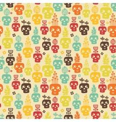 Funny skull seamless vector image