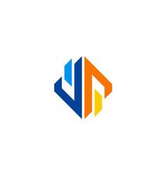 geometry shape business logo vector image