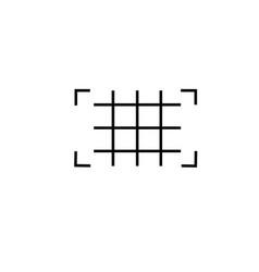 grid icon vector image