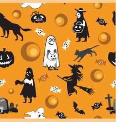 halloween seamless pattern 5 vector image