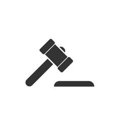 Hammer judge icon flat vector