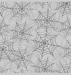 hand drawn spider web seamless pattern vector image