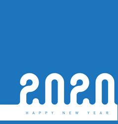 happy new year 2020 the inscription is made out vector image