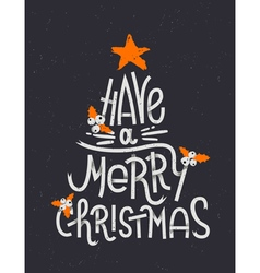 Have a Merry Christmas lettering in a shape of a C vector