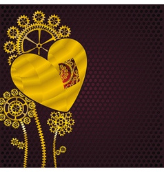 heart fo gold vector image