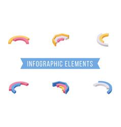 infographic elements isometric vector image