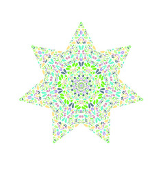 Isolated abstract floral mosaic star symbol vector