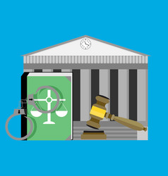 Justice concept courthouse vector