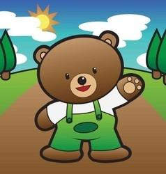 Kid bear vector