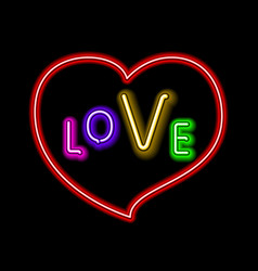 love pink neon sign makes it quick and easy to vector image