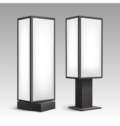 Luminous Rectangular Stands for Indoor Advertising vector