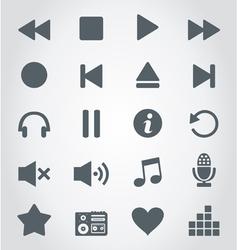 Media an icon vector