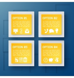 Modern Business Infographic Background vector image