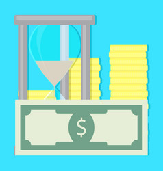 Money and time vector