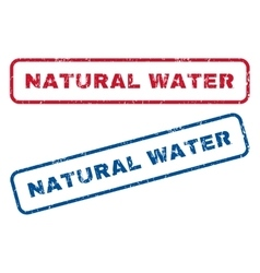 Natural Water Rubber Stamps vector