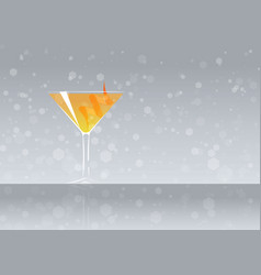 Official cocktail icon the unforgettable angel vector