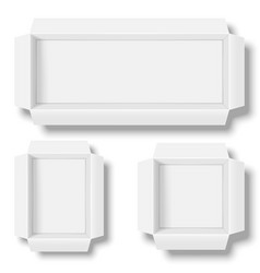 opened white boxes vector image
