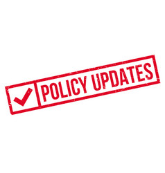Policy updates rubber stamp vector