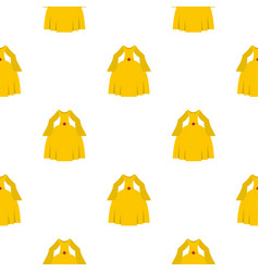Princess dress pattern seamless vector