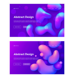 purple abstract realistic drop shape landing page vector image