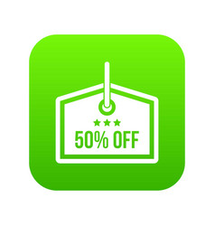 sale tag 50 percent off icon digital green vector image