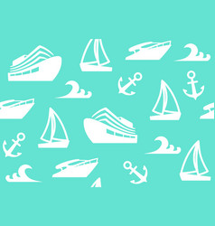 Seamless background of a sailing charter vector