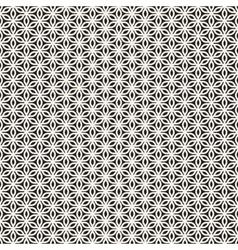 Seamless Lines Petal Shapes Lattice Pattern vector