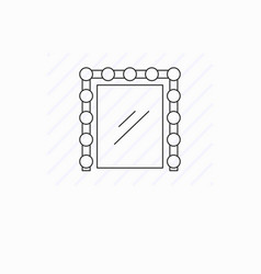 simple mirror with light line icon isolated vector image