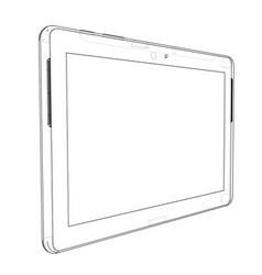 sketch of tablet pc vector image