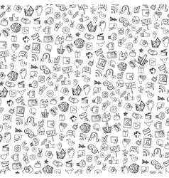 Social Media Icon patternbackgroundDoodle vector image