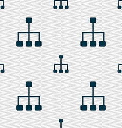 social network icon sign Seamless pattern with vector image