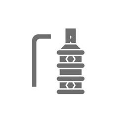 Steel grip for tattoo machine holder gray icon vector