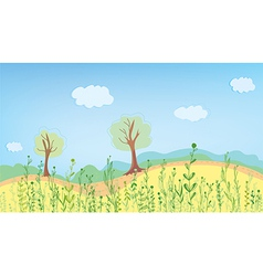 Summer landcape with grass vector