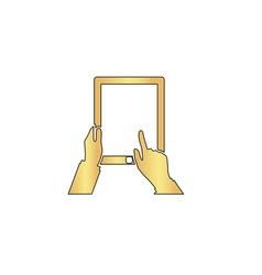 Tap Tablet computer symbol vector image