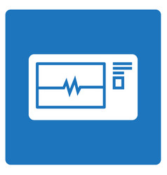 Thin line electrocardiogram icon vector