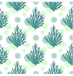 Underwater seaweed pattern seamless background vector