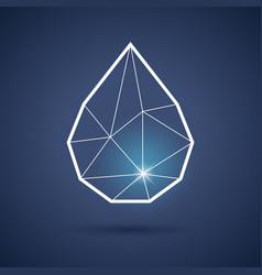 water drop or tear symbol vector image