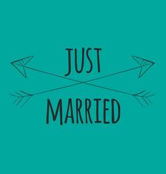 Wedding arrow married image vector