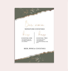 wedding rustic invitation cards with luxury gold vector image