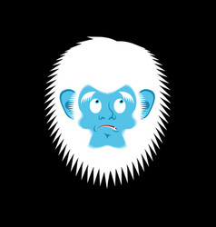 Yeti guilty emoji bigfoot delinquent face vector