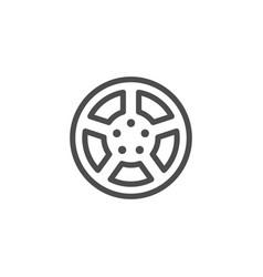Car rims line icon vector
