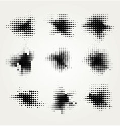 Collection of four ink splats vector image