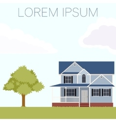 House flat banner vector image