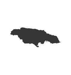 jamaica map outline vector image vector image
