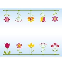 Retro Flower frame vector image vector image