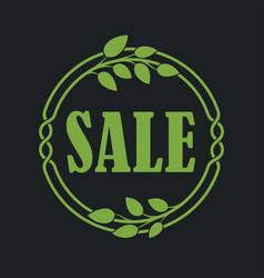 Sale label price tag banner badge in flora design vector